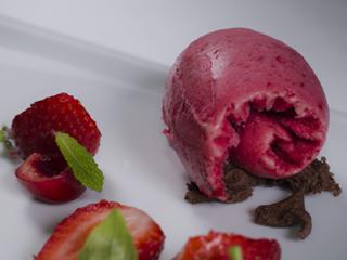 helados artesanos sabor fresa